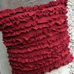 Simple Ruffle Pillow made out of a T-shirt and stuffing