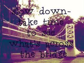 Swinging bridge winamac