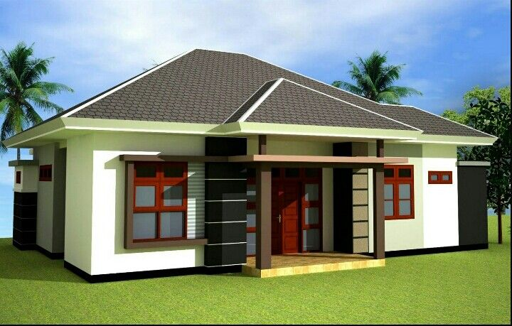 Tropical Home With Pyramid Roof Design Desain Exterior Rumah