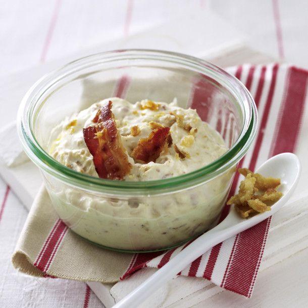 Brotaufstrich mit Röstzwiebeln und Bacon Rezept