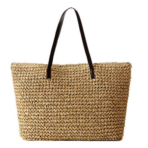 GSPStyle Women Straw Shoulder Beach Bag Colour Beige GSP http://www.amazon.co.uk/dp/B00KKEYHQY/