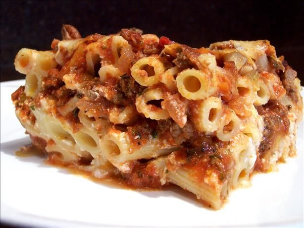 Baked Ziti With Thick Rich Meat Sauce Recipe - Food.com - 256691