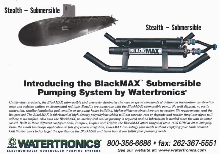 Watertronics Blackmax ad