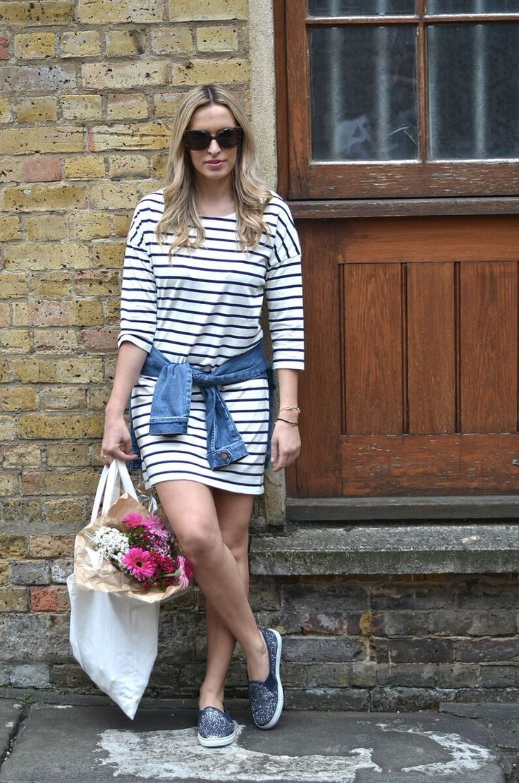 Stripes, denim and glitter #style