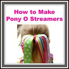 How to Make Pony O Streamers Video - Hairbow Supplies, Etc. - Your One Stop Shop for Hair Bow Supplies!