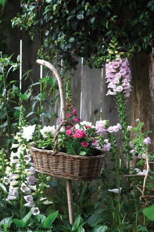 syflove:basket with flowers