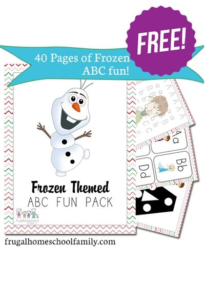 Free Frozen-Themed ABC Printables Pack (40+ Pages!) - limited time from @Educents Educational Products