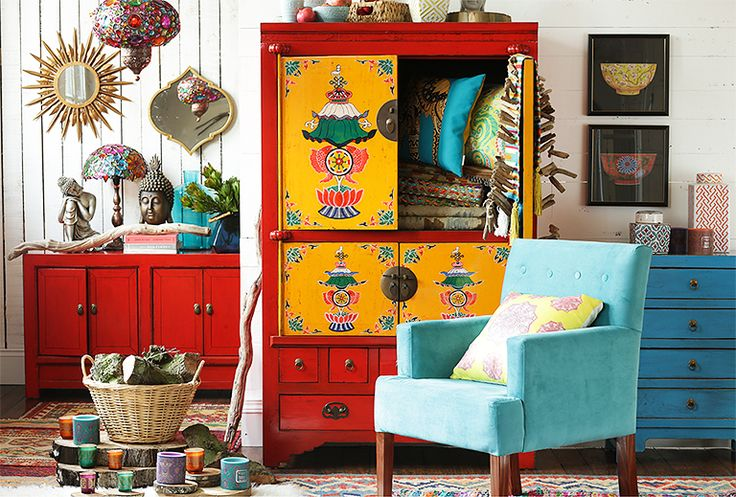 ¡#Colores para un espacio lleno de vida! #DecoBazar #Boho #Rojo #Mueble #Estante