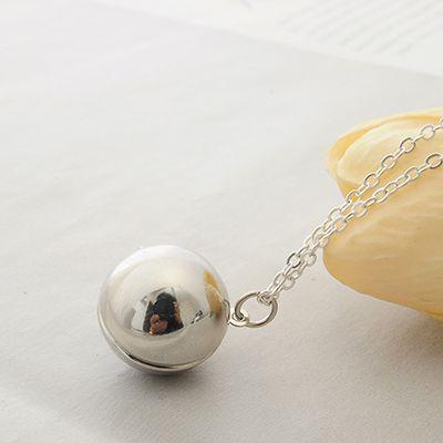 97,79 руб Пользовательские Ручной Секретное Сообщение Мяч Медальон Ожерелье Дружба Лучший Друг Женщины Мужчины Праздничные Подарки купить на AliExpress