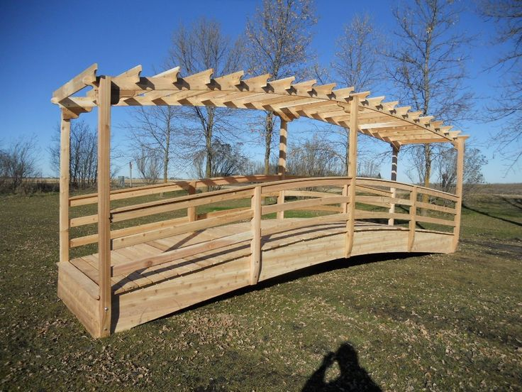 16 Foot Arched Footbridge Plans Google Search Garden