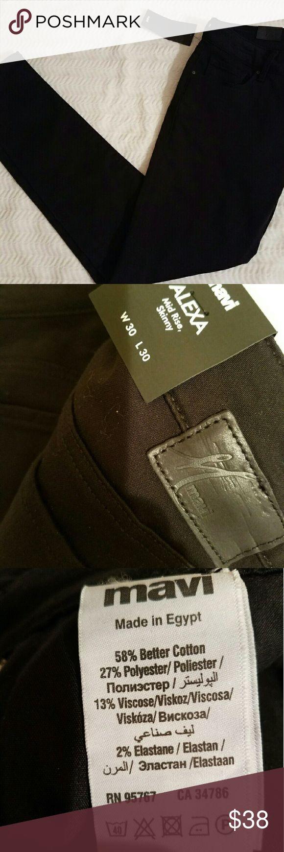 Mavi Black Skinny Jean **Brand New** black Alexa skinny jeans. These jeans are a staple in every woman's closet! Mavi Jeans Skinny