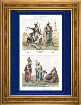 Napoleone - Campagna d'Egitto - Impero Ottomano - Armee d'Orient  - Uniforme militare - Costume Egiziano - Donna Egiziana