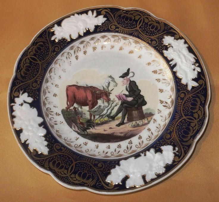 NEW HALL DR SYNTAX DRAWING AFTER NATURE DESSERT PLATE C1825
