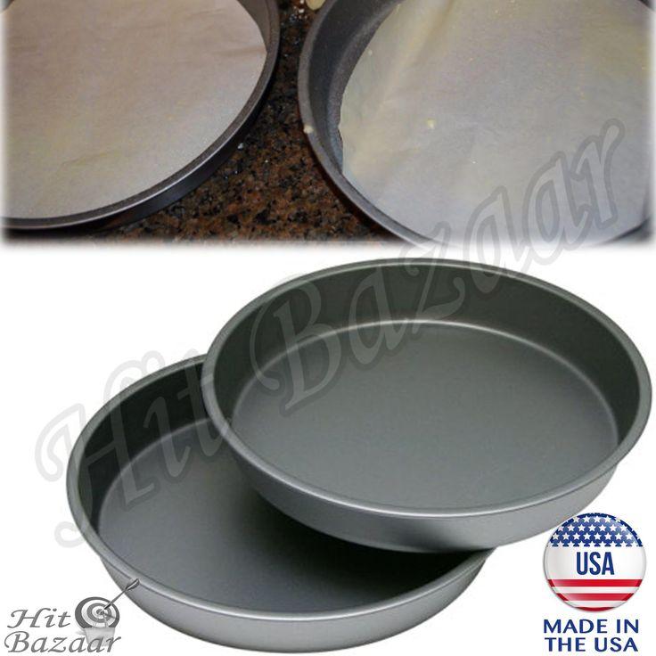 NONSTICK ROUND CAKE Pan Set Of 2 Oven Baking Steel Home Kitchen Bakeware 9 Inch
