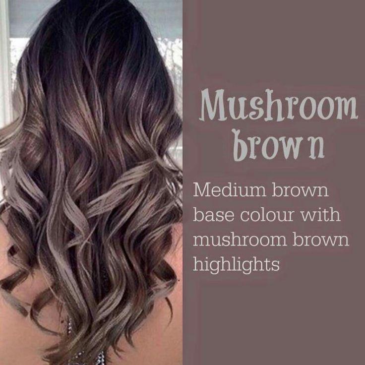 Mushroom Brown Higlight Hair color ideas 2017(Pastel Hair Color)