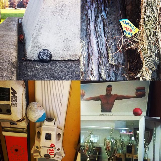 From a past event.  2016. Join the treasure hunt!  Here are hints to 4 hidden at Olympic College Bremerton Campus. #getOTL #oclibraries #kitsaprocks