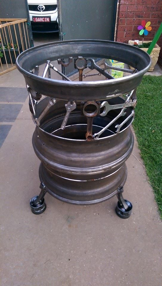 man cave fire pit check us out on facebook Pop's Art & Co
