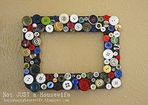 Not super cute, but a fun idea.  Maybe for Halloween, and put googly-eyes in the middle of the buttons..