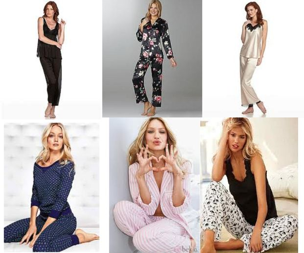 PIJAMA PARA SEÑORAS Pijamas para señoras,si somos un poco mas conservadoras en el uso de la pijama podemos escoger estos modelos sin dejar la femineidad y sensualidad que caracteriza a toda mujer
