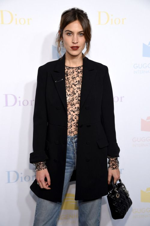 "chungit-up: "" Alexa Chung attends the 2016 Guggenheim International Pre-Party by Dior at the Guggenheim Museum in New York City 