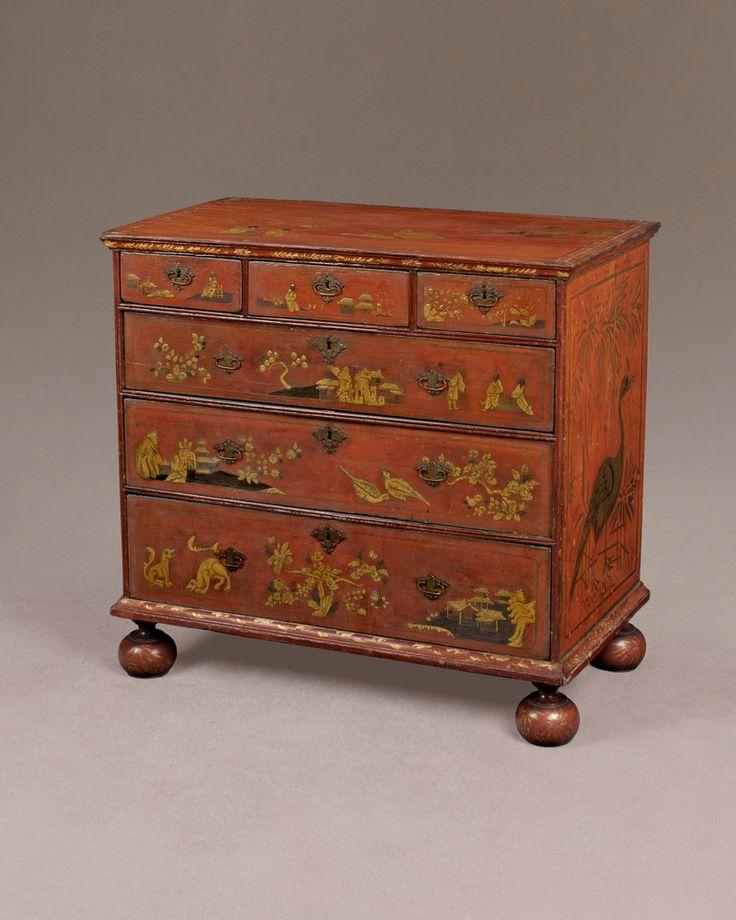 William III Period Red Lacquer Chest | England, circa 1695 | Antique  Furniture | Howard - 10 Best Antique Furniture Images On Pinterest Antique Clocks