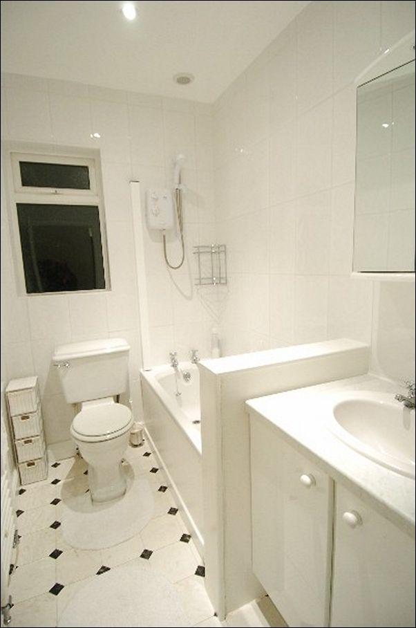 White Tile Bathroom Walls