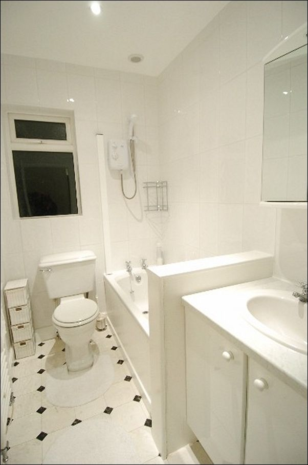 White Tile Bathroom Walls
