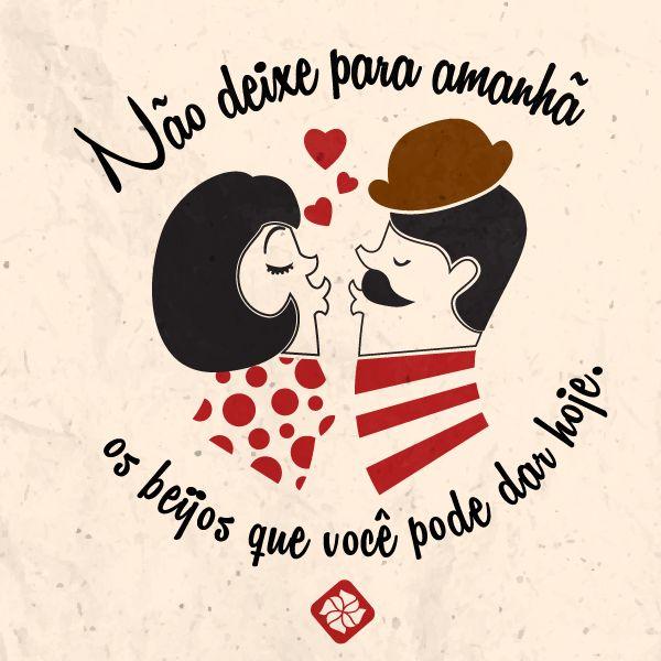 #beijo #hoje #amor #romance #frase #pensamento #kathavento