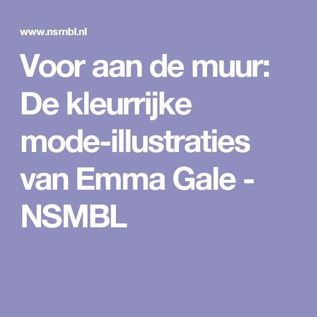 Voor aan de muur: De kleurrijke mode-illustraties van Emma Gale - NSMBL