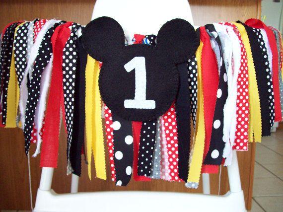Mickey Mouse Banner Set Photography Prop  by backyardprims on Etsy