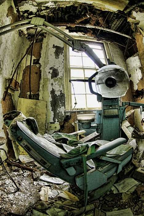 """Forest Haven children's psychiatric hospital, Laurel, MD, USA. Forest Haven closed its doors in 1991, succumbing to the double-whammy of mounting patient lawsuits and the era's reduced use of and demand for so-called """"lunatic asylums""""."""