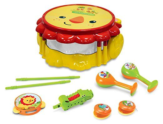 Fisher Price Music - Drum Set - Musical Band Drum Set - Lion ...