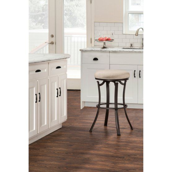 Hillsdale Furniture Bryce Backless Indoor/Outdoor Swivel Counter Stool