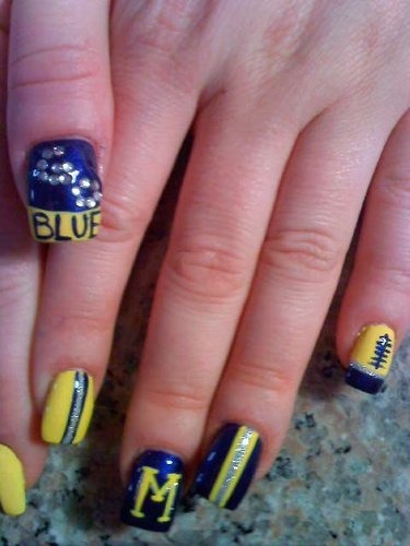 17 Best Hail To The Victors Images On Pinterest Cute Nails