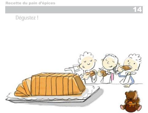 Hop'Toys vous présente sa recette du pain d'épices, avec le détail des étapes sous forme de dessins. Pour les petits comme pour les grands.