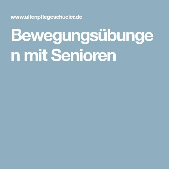 Bewegungsübungen mit Senioren