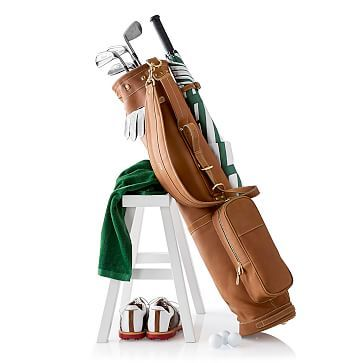 leather sunday golf bag | markandgraham