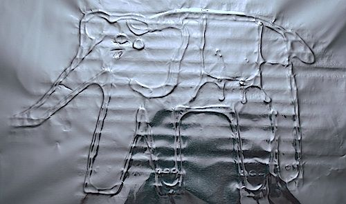 Elephant Foil Painting Craft- Kid World Citizen