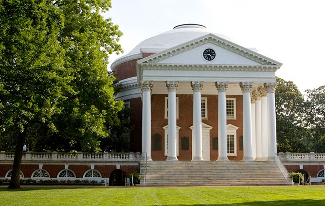University of Virginia  Charlottesville, Va  When Thomas Jefferson is your chief architect and your campus has been named a World Heritage site, you don't have a lot to prove architecturally