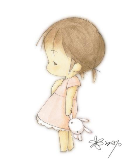 Little girl in a pink dress holding a bunny... What could be more adorable? #littlegirlbedroom #girlnurseryart