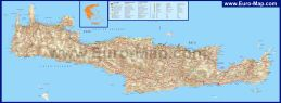 Подробная карта острова Крит с курортами