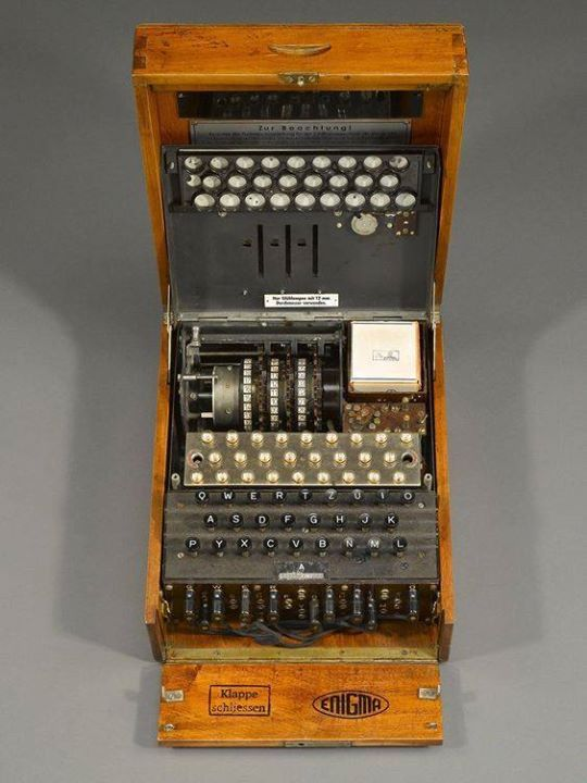 Very Rare WWII Enigma Cipher Machine. This highly important three-rotor Enigma deciphering machine was used by the Nazis during World War II. It is believed that acquisition of an Enigma and the subsequent deciphering of the German codes by the Allies shortened the war in Europe by at least two years. Examples of Enigma machines are exceptionally rare and almost all known models are in museums.