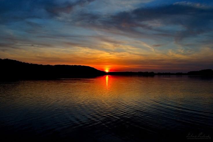 Sunset over Hlucin