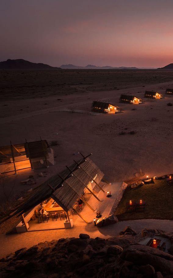 Desert Quiver Camp, air-conditioned comfort, desert wildlife and the Namib's spectacular dunes, Sossusvlei, Namibia. Timbuktu Travel