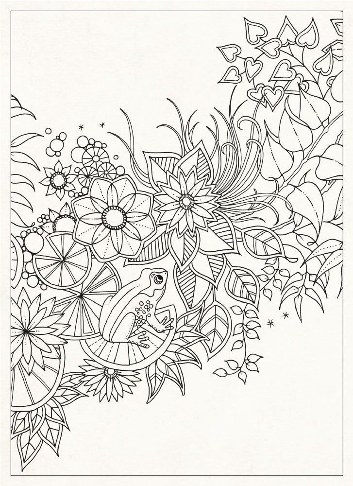 Secret gardens Coloring for adults