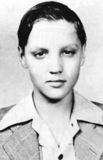 Elvis Presley as a boy in the mid-1940s
