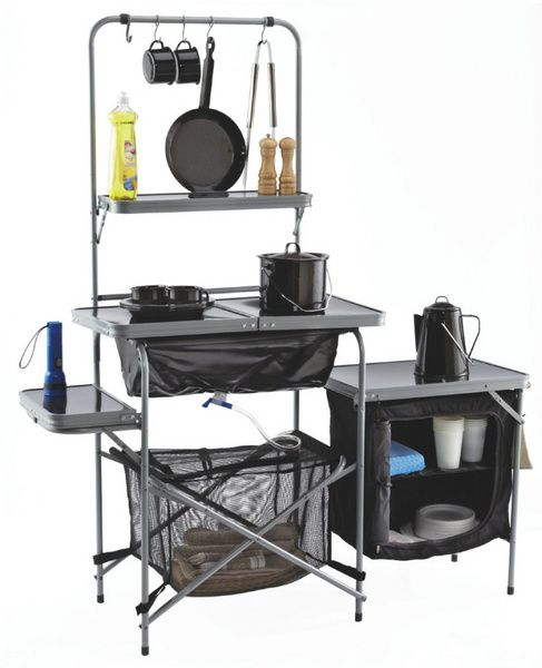 We have an old Coleman set up, it's great for camping & tailgating! This looks new=> Kitchen Sink!