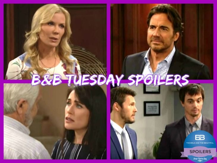 """""""The Bold and the Beautiful"""" spoilers for Tuesday, June 13, tease that Bill (Don Diamont) will get some startling news from Wyatt (Darin Brooks). B&B fans know that a shot was recently fired outside the Forrester mansion. Once Bill gets updates, he'll wonder if someone was trying to kill Quinn ("""