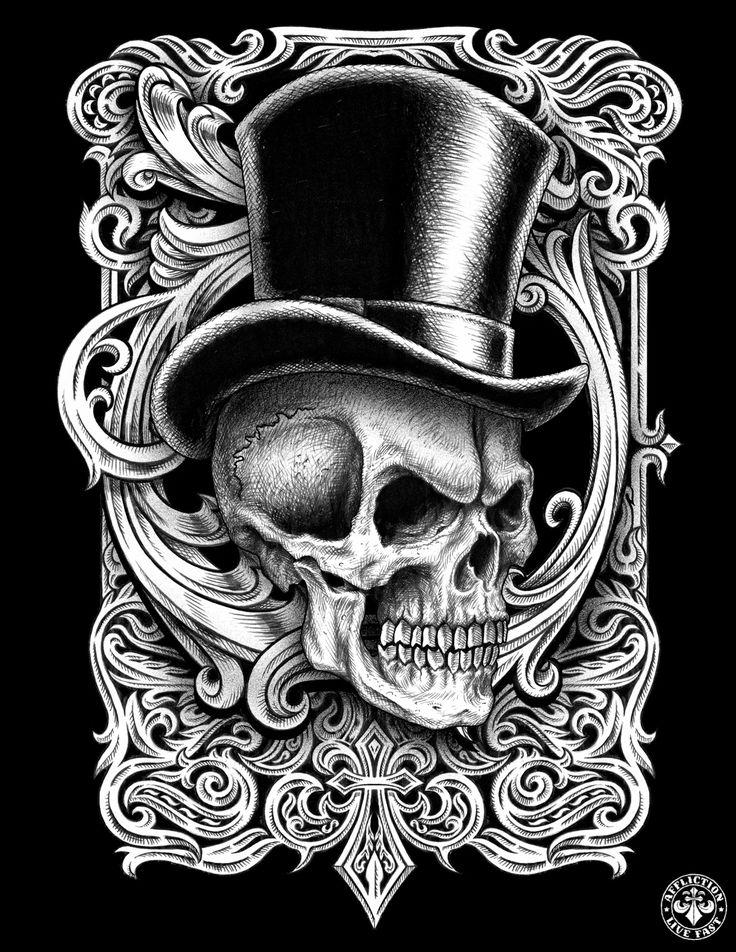 картинки черепа в шляпе преображает