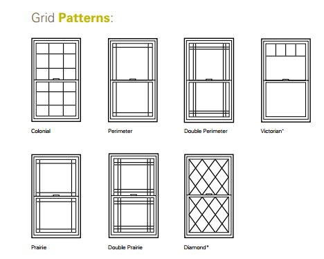 Grid patterns for windows google search windows for Colonial window designs